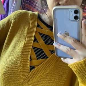 Forever 21 Sweaters - mustard YELLOW SWEATER